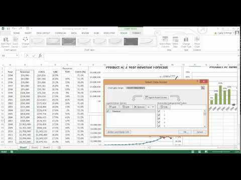 Add Years to a Chart Axis in Excel