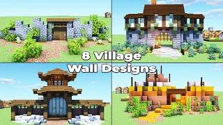 8 Village Wall Designs for Minecraft 1.15 Survival
