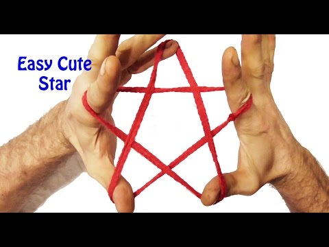 Learn How To Make A Cute Star String Figure/String Trick - Easy Step By Step