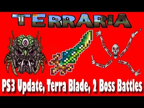 Terraria Gameplay Part 20 PS3 Update, The Legendary Terra Blade, Ocram, and Skeletron Prime