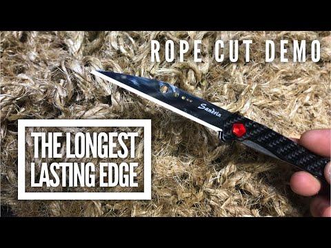 The Longest Lasting Knife Edge - Sandrin Tungsten on a TCK (видео)