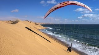 Imagine following zebra tracks through the African desert to find the perfect peak. That is exactly what paraglider Veso Ovcharov did on his latest adventure...