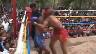 Muay Thai Fight Uttaradit Thailand-2 2003 Round 2