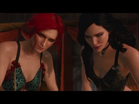 The Witcher 3 Yen and Triss Threesome Sex Scene