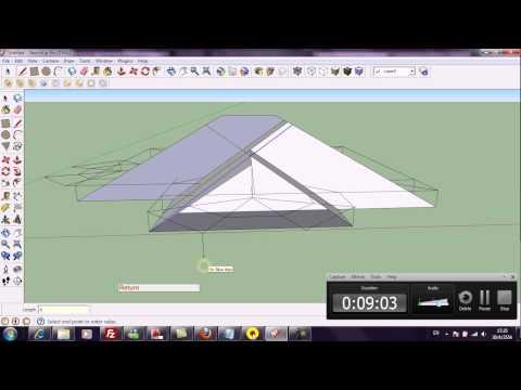 การเขียนแบบบ้าน3Dด้วย google Sketchup ตอนที่ 1