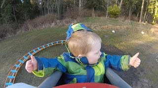 Video Back Yard Roller Coaster - Wyatt's First Ride MP3, 3GP, MP4, WEBM, AVI, FLV Desember 2017