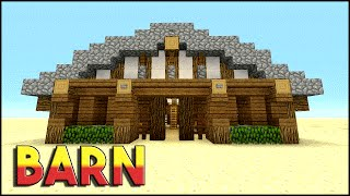 BARN | Minecraft: How To Build A Barn Tutorial | Medieval Barn | PS3, PS4, XBOX360, MCPE
