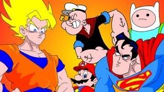 GOKU Vs EVERYBODY UCF 7.2 - SUPERMAN, FINN&JAKE, MARIO&POPEYE