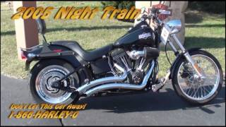 5. Pre-Owned Harleys for Sale 2005 Vivid Black FXSTB/FXSTBI Softail Night Train Harley Davidson 036281