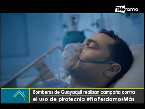 Bomberos de Guayaquil realizan campaña contra el uso de pirotecnia #NoPerdamosMás