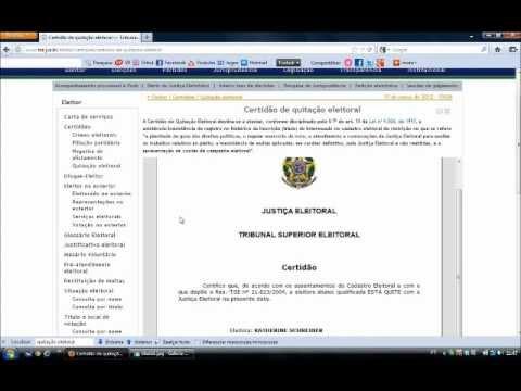 Como emitir Certidão de quitação eleitoral