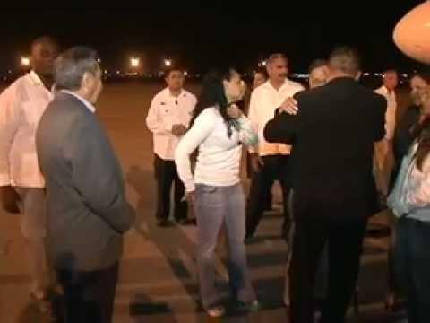 24 FEB 2012 Llegada del Pdte Hugo Chávez a La Habana, República de Cuba para Operación Médica