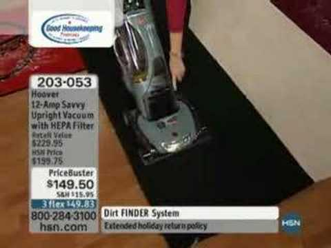 Hoover 12-Amp Savvy Upright Vacuum with HEPA Filter…