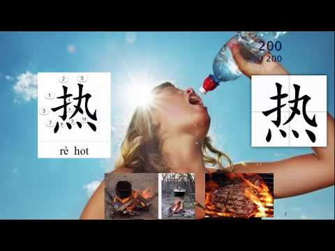 Origin of Chinese Characters - 0336 热 熱 rè hot; ardent; warmed