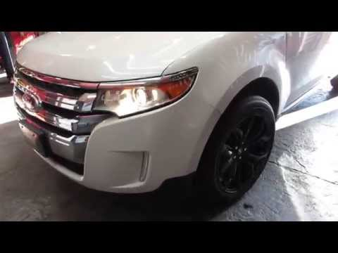 2013 FORD EDGE LIMITED WITH 20 INCH MATTE BLACK WHEELS & GOODYEAR TIRES CUSTOM RIMS
