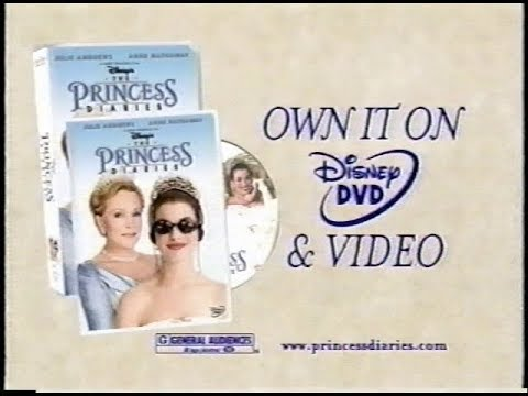 Disney's - The Princess Diaries VHS/DVD Commercial #2 (2001)