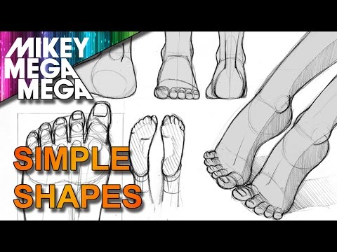 How To Draw SIMPLE FEET IN ANIME MANGA with MIKEYMEGAMEGA