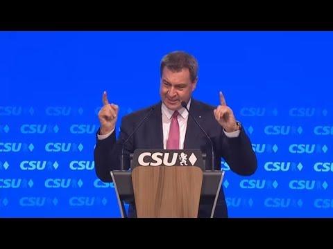 Söder teilt gegen AfD aus: Der Feind steht rechts