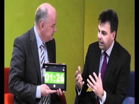 Alastair Hamilton, Invest NI, takes the 60 second challenge with Omagh Enterprise Company