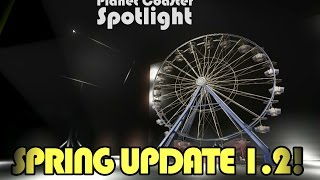 Finally its here: The 1.2 Planet Coaster Spring update. Boomerang Coasters, Duelling Coasters, no collision, a security guard, more items and so much more. S...