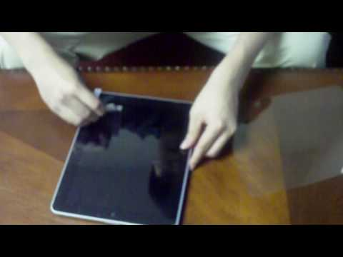 clear for ipad tutorial - A simple tutorial showing you how to install a crystal clear screen protector on the iPad.