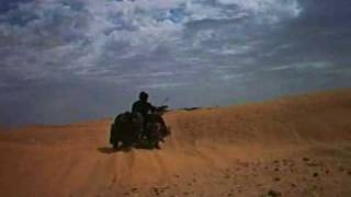 8. Douz to Ksar Ghilane piste, Tunisia on a pair of Ural and Dnepr sidecars - Part 6