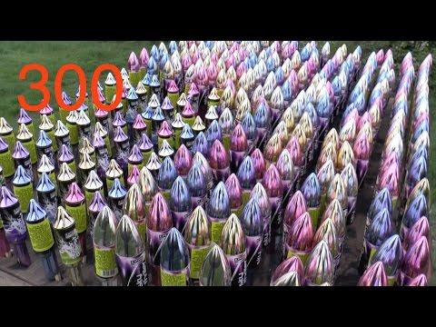 『必看』你有看過一次發射300支煙花火箭的場面嗎?