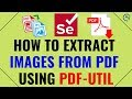 How to Extract Images from Pdf File using Pdf Util