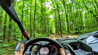 2. 70 mph Forest Trail run in a Can Am Maverick X3 Turbo