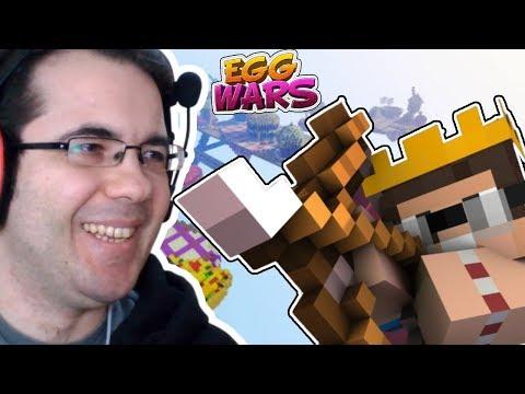 NE GÜZEL YAY KULLANIYORUM BEEEEHH!!! (GÜLMEYİN) | Minecraft Egg Wars