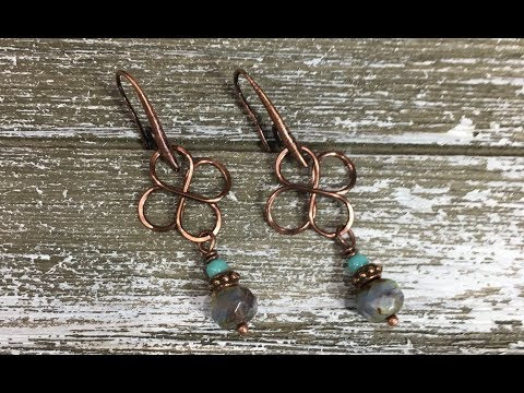 How To Make Wire Celtic Knot Earrings