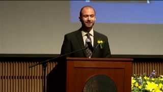 Noah Berlow Acceptance Speech accepting The Ithaca College Outstanding Young Alumni Award