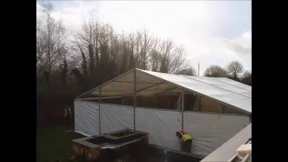Timelapse of Danco building a 30th birthday party marquee in Bristol