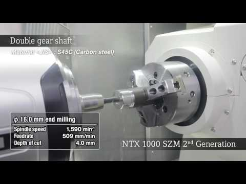NTX 1000 2nd generation ダブルギヤシャフト/Double gear shaft (видео)