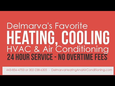 Bridgeville DE Heating & Air Conditioning 302-238-6305. AC Repairs (видео)