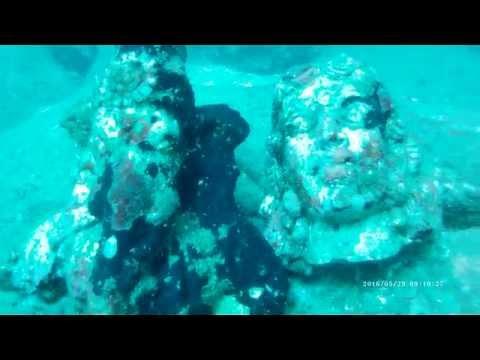 Statues from ancient Koneswaram temple - Trincomalee, Sri Lanka, Taprobane Divers