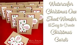 Video How to Make 18 Quick & Easy Christmas Cards with a Few Stampin' Up! Supplies MP3, 3GP, MP4, WEBM, AVI, FLV Juli 2019