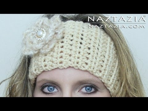 Download DIY Learn How to Crochet Easy Headband Wrap with Flower (Hair Head Band Ear Warmer) HD Mp4 3GP Video and MP3