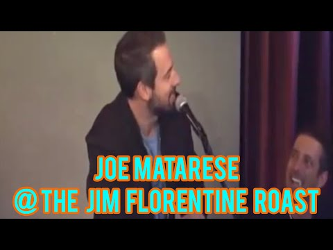 Joe Matarese performing at The Cringe Humor Roast of Jim Florentine