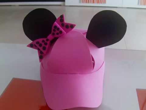 Minnie Mouse Gorra en Foami, Goma Eva, Microporoso (1ra Parte ...