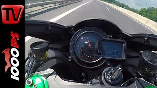 Kawasaki H2 Top Speed - Acceleration @Autobahn
