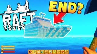 THE BEST BATTLESHIP RAFT + SECRET ENDING! - RAFT SURVIVAL w/ Tewtiy #6