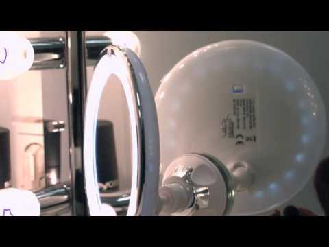 NX1344 - MIROIR GROSSISSANT AVEC VENTOUSE ET LED