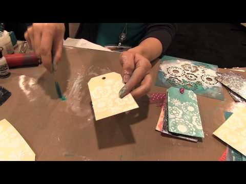 Stenciling With Gesso With Claudine Hellmuth