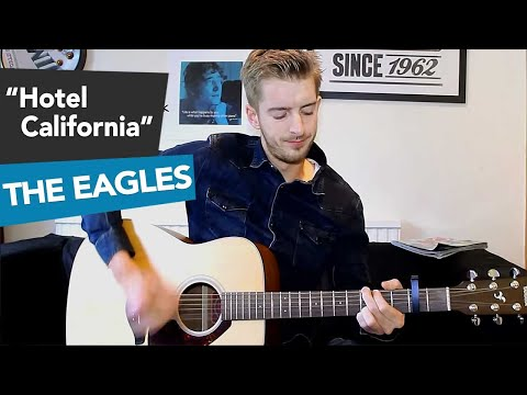 Hotel California | The Eagles (how to play) Easy beginner Guitar songs