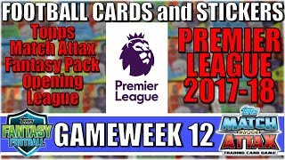 MATCHDAY 12   FOOTBALL CARDS and STICKERS PREMIER LEAGUE 2017/18   Topps Match Attax Cards