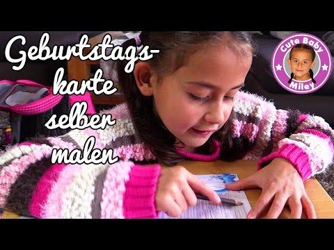 GEBURTSTAGSGESCHENK FÜR FREUNDIN | MILEY gestaltet selber eine Glückwunschkarte | CuteBabyMiley