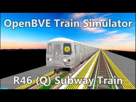 OpenBVE Train Simulator Gameplay - NYCT R46 (Q) Subway Train