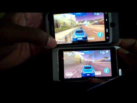 Asphalt 6 HD: Symbian^3 and Android graphical comparison.