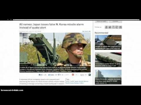 Japan Missile Warning? Oil Spill! Solar Flare! 6.3 Earthquake? Asteroid? NEWS 04/13/2013